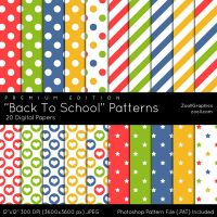Back To School Patterns - Premium Edition by MysticEmma
