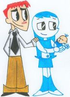 Jenny, Brad, and Their Baby 2 by nintendomaximus