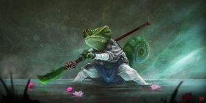 Kung Fu Chameleon by IncaInk
