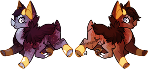 Teeny Twins [closed] by Icarusis