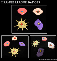 Orange League Badges by BklynSharkExpert