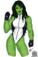 She Hulk by blackmoonrose13