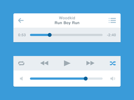 Flat Music Player (iOS) by Mythic12
