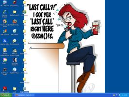 Last Call Monica Desktop by LDLAWRENCE