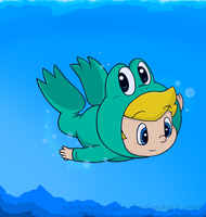 swim swim, froggy C: by Nintendrawer