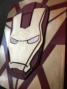 Iron Man 3D Canvas by paulo2070