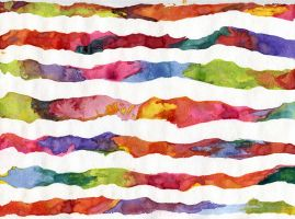 Watercolor Stripes, Scanned by tobilou
