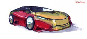 iron man car by artcobain