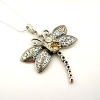Silver Dragonfly Necklace by SteamSect