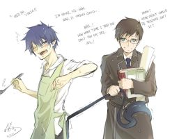 Ao no Exorcist Twins by RoezNoah917