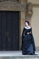 Stock - Dark victorian lady romantic pose 2 by S-T-A-R-gazer