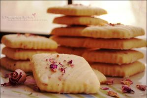 Rose Tea Shortbread Cookies by asainemuri