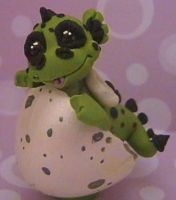 polymer clay ooak dragon spike by crazylittlecritters