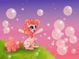 Pinkie Bubbles by Shironiki