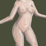 Painting Study (Nude) by BlAcK-BlADEn
