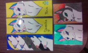 Bookmarks and collectible cards For Sale by liongirl2289