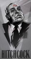 Alfred Hitchcock by lordnecro