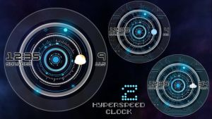 Hyperspeed Clock 2 for xwidget by Jimking