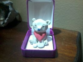 a polar bear in a ring box lol by wantedredfox