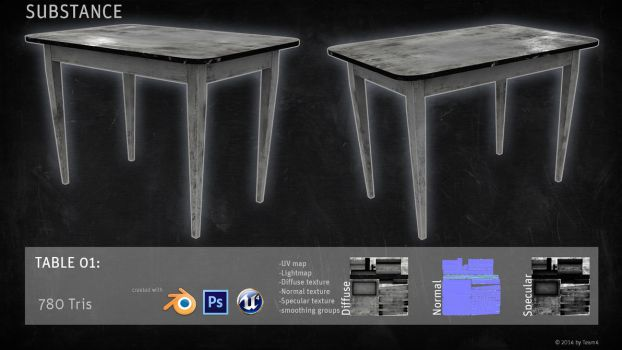 SUBSTANCE Prop: Table by shcadeYuVE