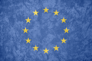 European Union ~ Grunge Flag (1955 - ) by Undevicesimus