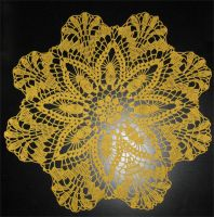 Yellow doily by Little-Vampire