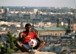 Football player  Sacre Coeur by grafzero