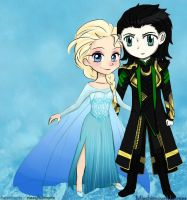 Loki and Elsa! by MischievousMistress