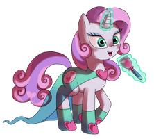 Superstar singer pony sweetie belle ! by ponyponyfive