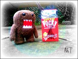 Domo and lovely Pocky by Annabud