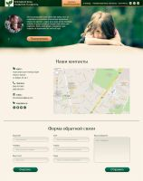 Page *Contacts* of Charitable Fund by Elen-tea
