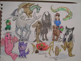 Mythical Beasts by DarthJader11
