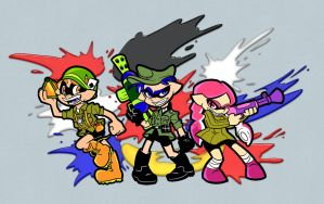 Are you a squid or a kid, soldier? by Fyuvix
