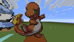 ~~Charmander~~ Minecraft pixel art~~ Pokemon by InkBlot2014