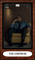 Hannibal Tarot: IV - The Emperor by DarkFairyoftheWood