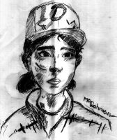 Clementine TWD - Traditional Art by ArifAlawawa
