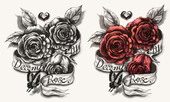 The Triple Roses by CrisLuspoTattoos