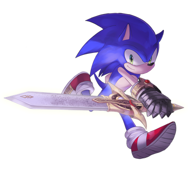 Sonic and the black knight by Onioncouch