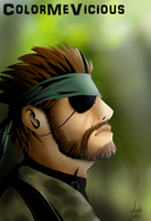 Naked Snake by ColorMeVicious