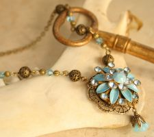 Perfume Flower Pendant Necklace by byrdldy