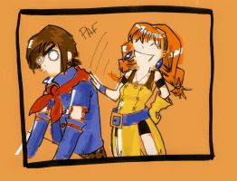 Vyse and Aika by Tifaerith