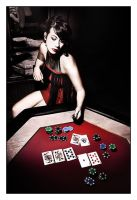 Poker Girl by Mondiani