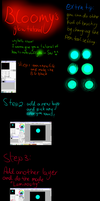 Bloomy's glow tutorial for basic glowing on Sai by BloomCat-Leslie