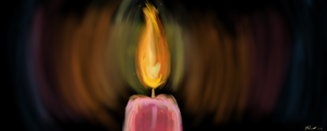 Candle in the Blackness by simpspin