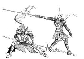 Ornstein vs Penetrator by MenasLG