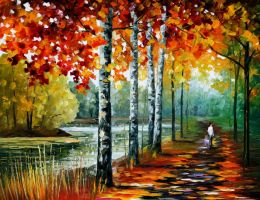 By the lake by Leonid Afremov by Leonidafremov