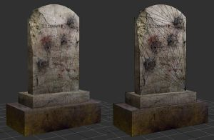 Low Poly Tombstone Prop by gone-mad