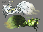 Ghost Kitsune Adopts - 1 left by animalartist16