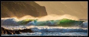 Ke'e Wave at Sunset by aFeinPhoto-com
