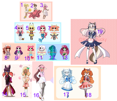.:Super Cheap Adopts::16/19 Open:. by KuckyDucky